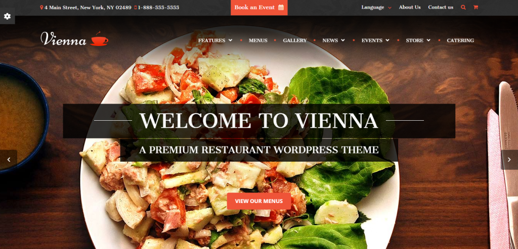 Top Restaurant WordPress Themes