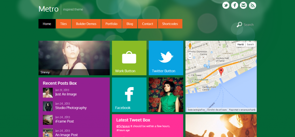 Windows 8 WordPress Theme