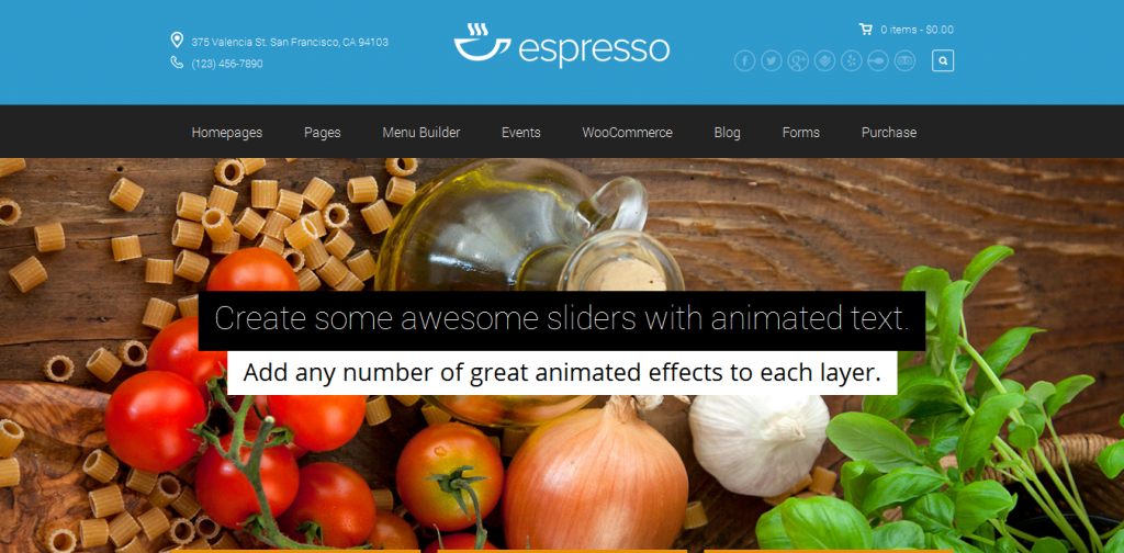 WordPress Theme for Restaurants