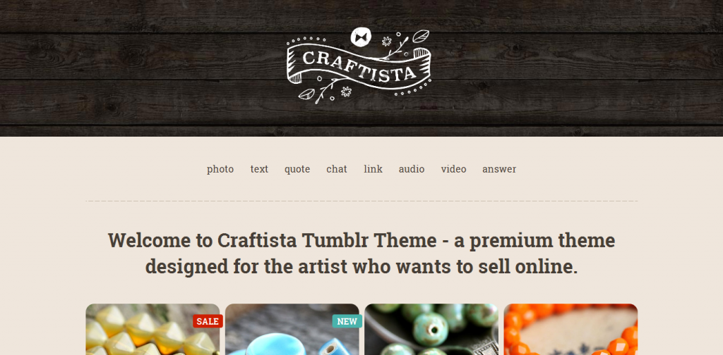 eCommerce Tumblr Theme