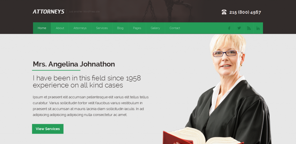 Attorney WordPress Theme