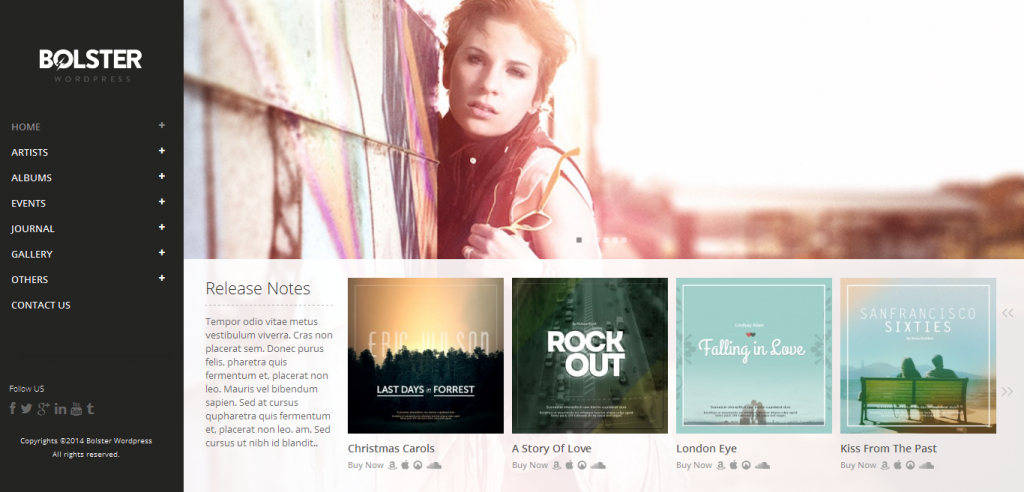 Best Band WordPress Themes