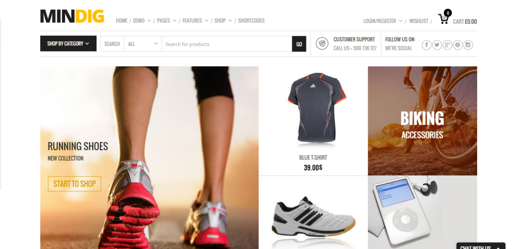 Buy WordPress Commerce Template