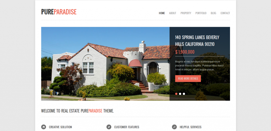 Clean Real Estate WordPress Theme