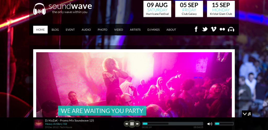 Clubbing WordPress Theme
