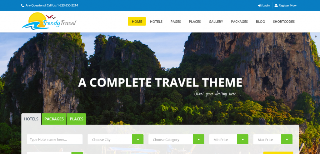 Downlaod Hotel WordPress Templates