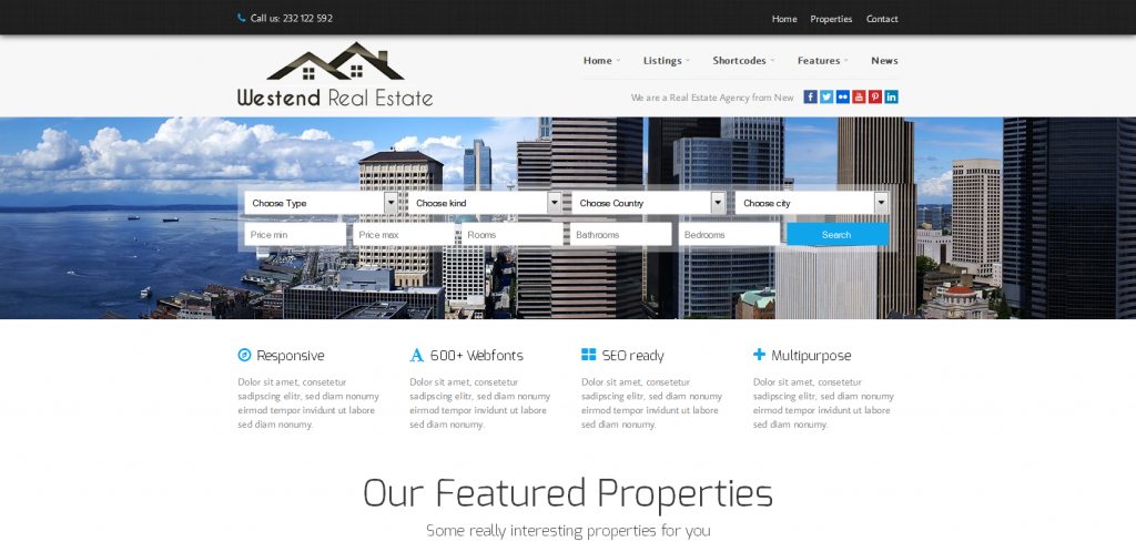 Estate WordPress Themes