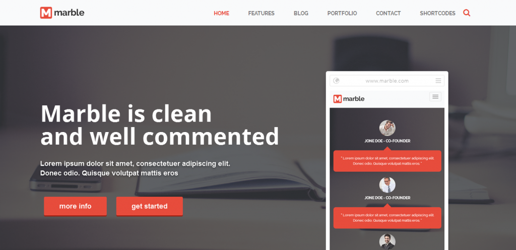 Flat WordPress Portfolio Theme
