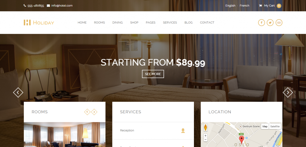 Free Hotel WordPress Templates