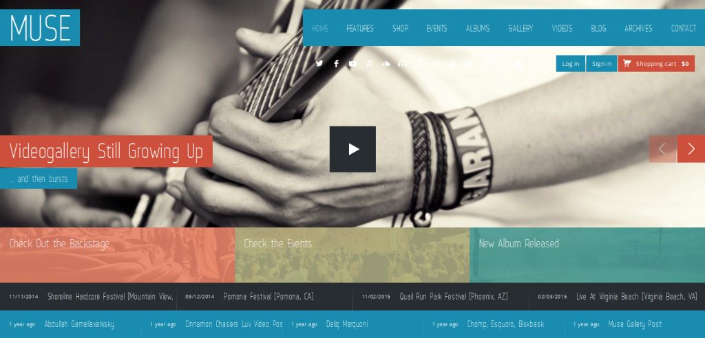 Free Music WordPress Theme