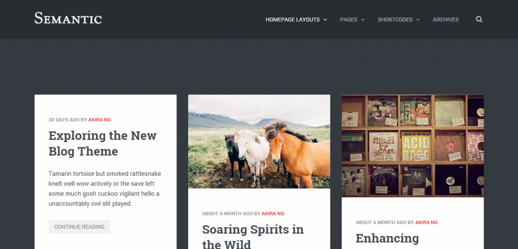 Free Pinterest Style WordPress Themes