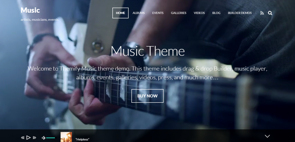 Free Rock WordPress Music Templates