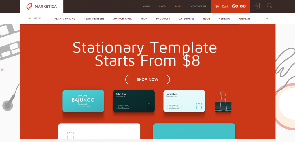 Free WordPress Commerce Templates