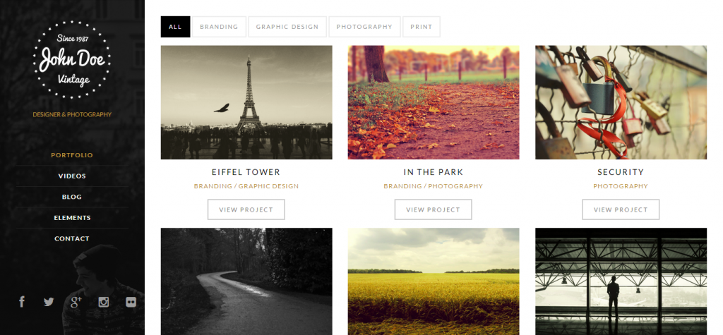 HTML5 WordPress Portfolio Theme