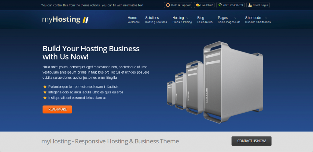 Hosting Business Theme