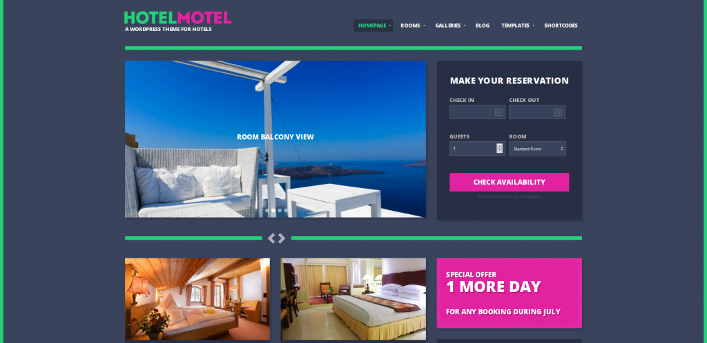 Motel WordPress Themes