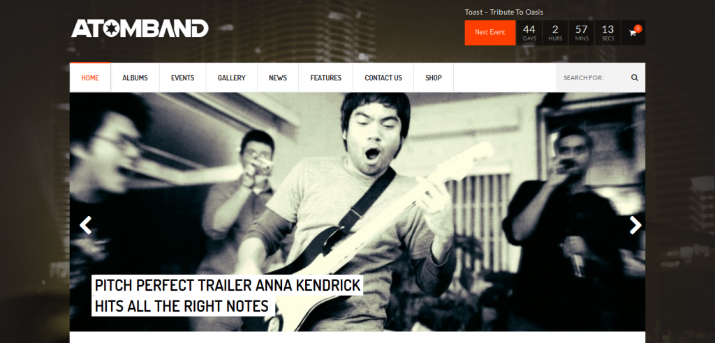 Music Magazine WordPress Theme