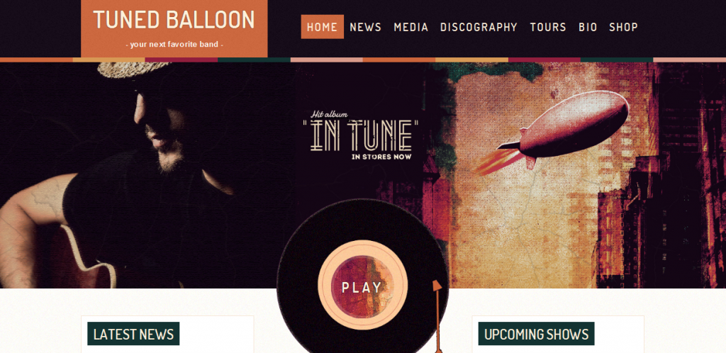 Music WordPress Template