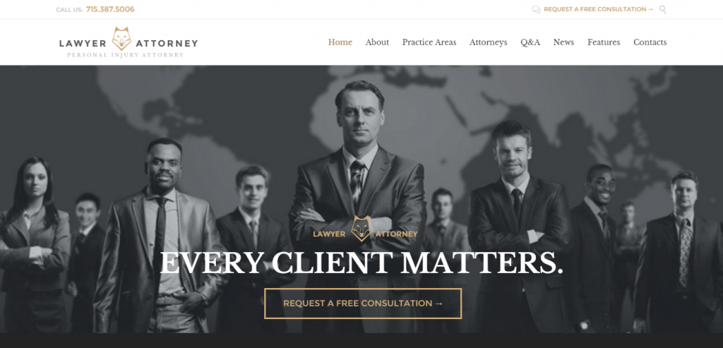 New Attorney Law WordPress Themes