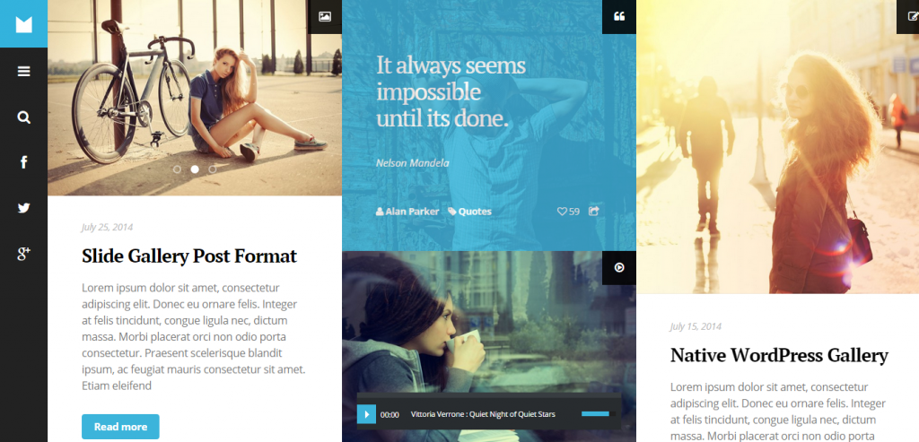 New Pinterest Style WordPress Themes