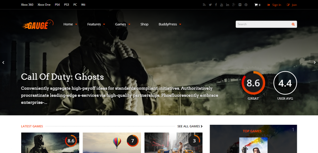 New WordPress Game Themes