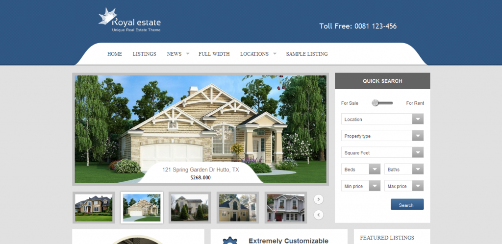 Premium WordPress Real Estate Theme