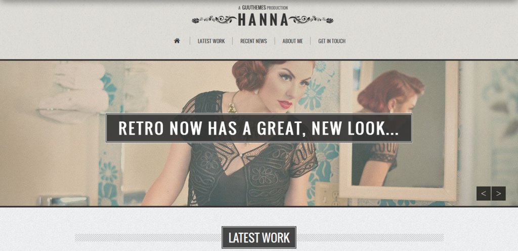 Responsive Retro WordPress Theme