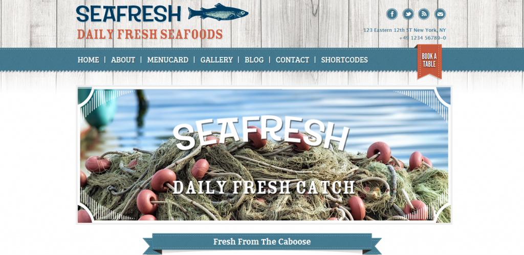 Sea Food WordPress Theme