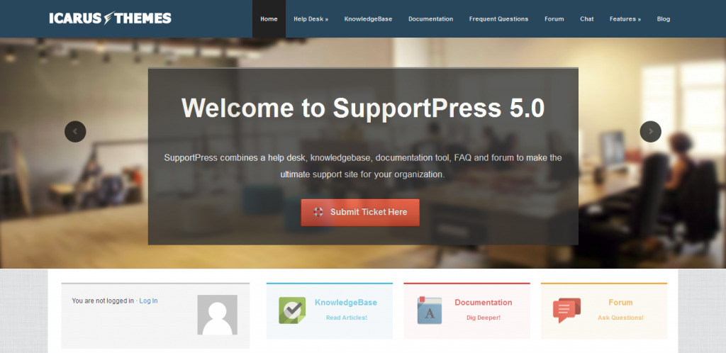 Support WordPress Theme