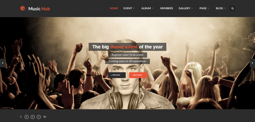 Top Music WordPress Templates