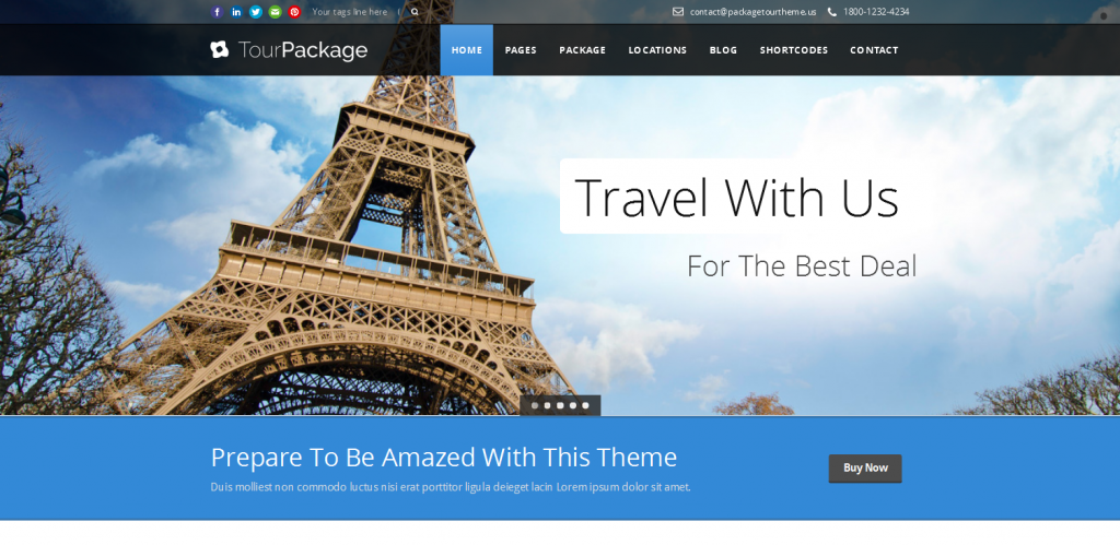 Tour WordPress Theme