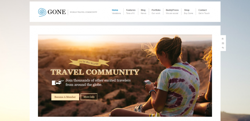 Travel Community WordPress Theme