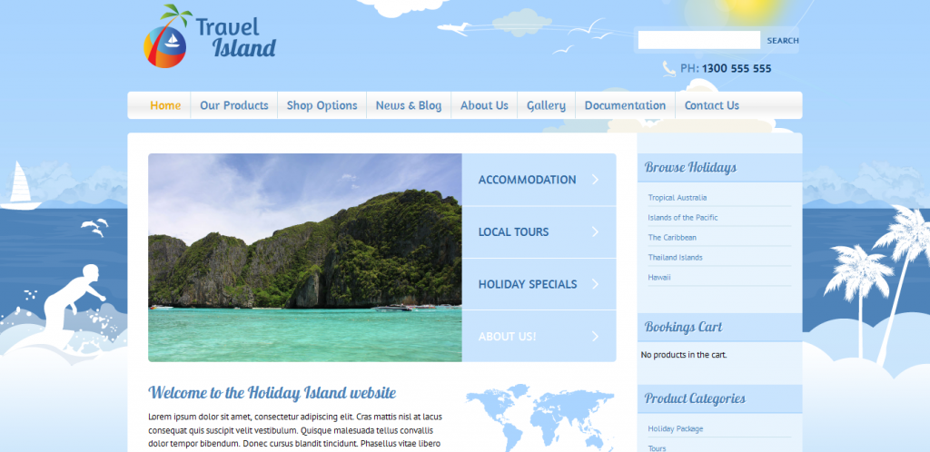 Travel Island WordPress Theme