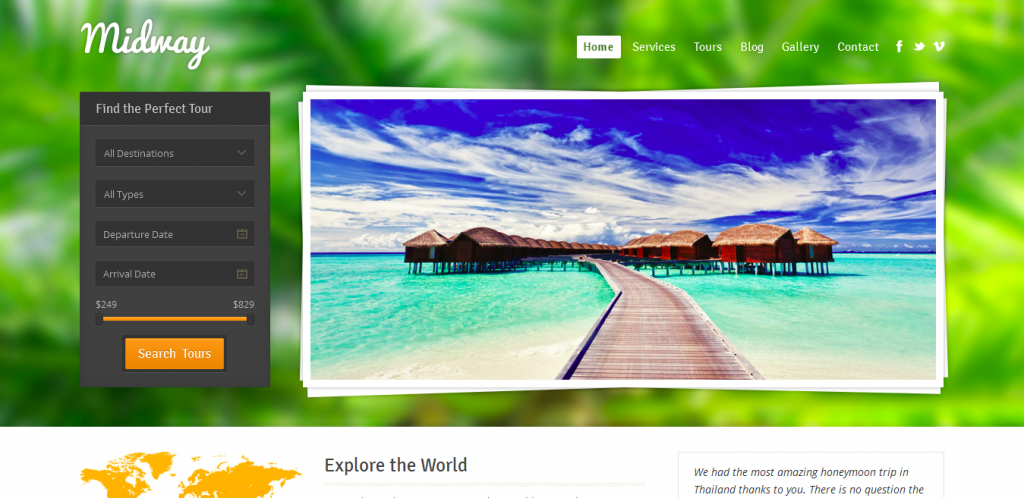 Travel WordPress Templates