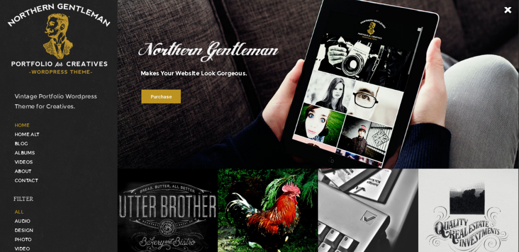 Vintage Portfolio WordPress Theme