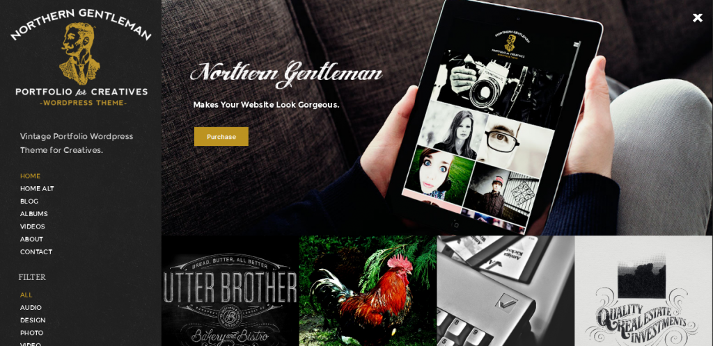 Vintage Portfolio WordPress Themes