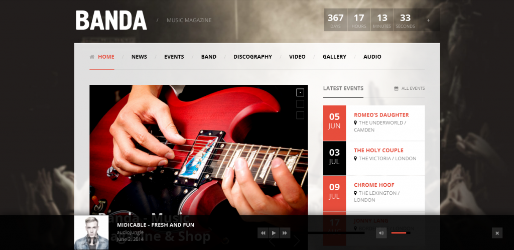 WordPress Music Magazine