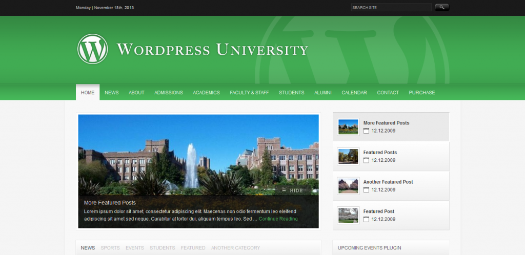 WordPress Theme For Colleges
