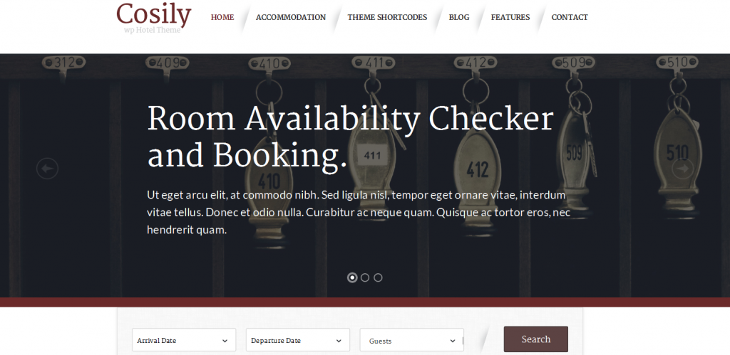 WordPress Theme for hotels