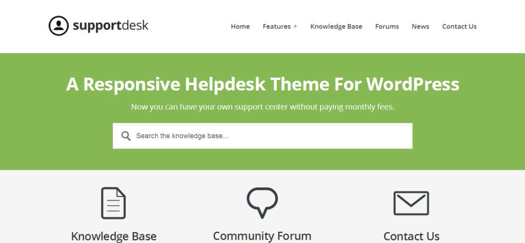 helpdesk theme for WordPress