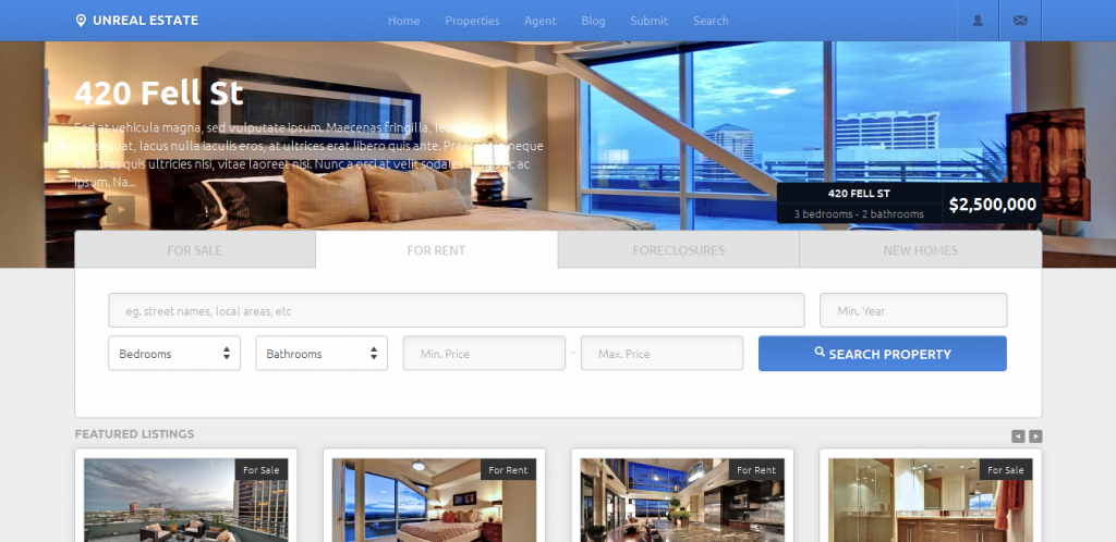 responsive real estate theme