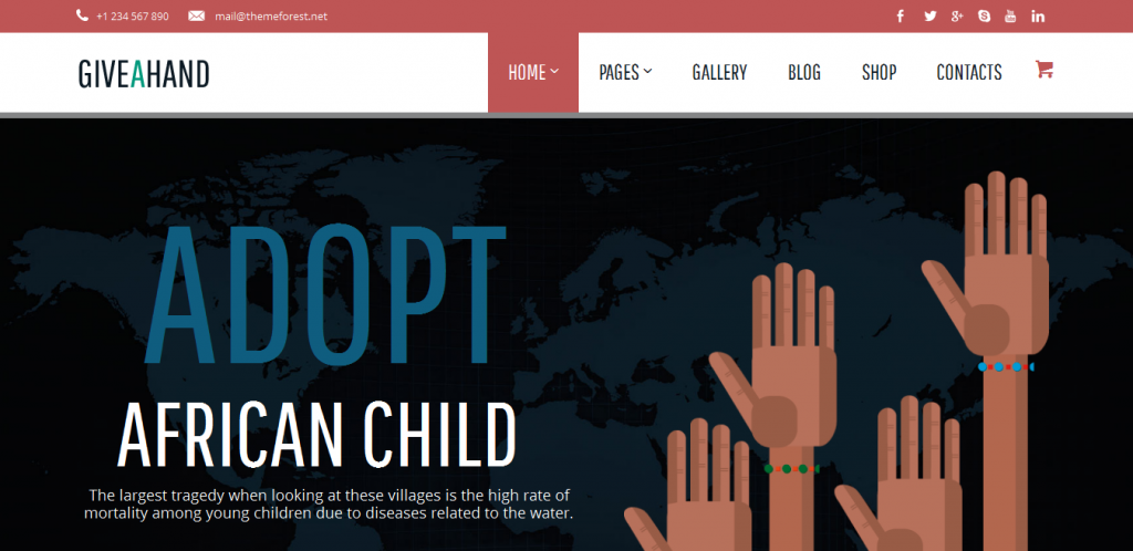 Charity Responsive WP Theme