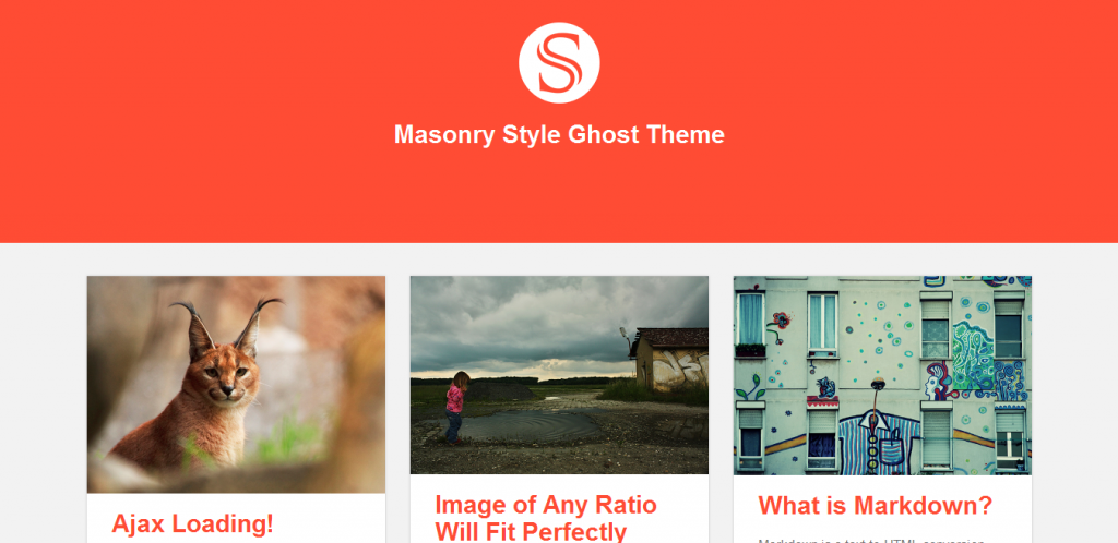 Masonry Ghost Theme