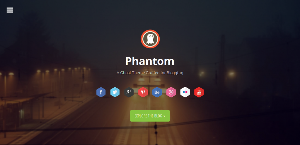 Parallax Theme for Ghost