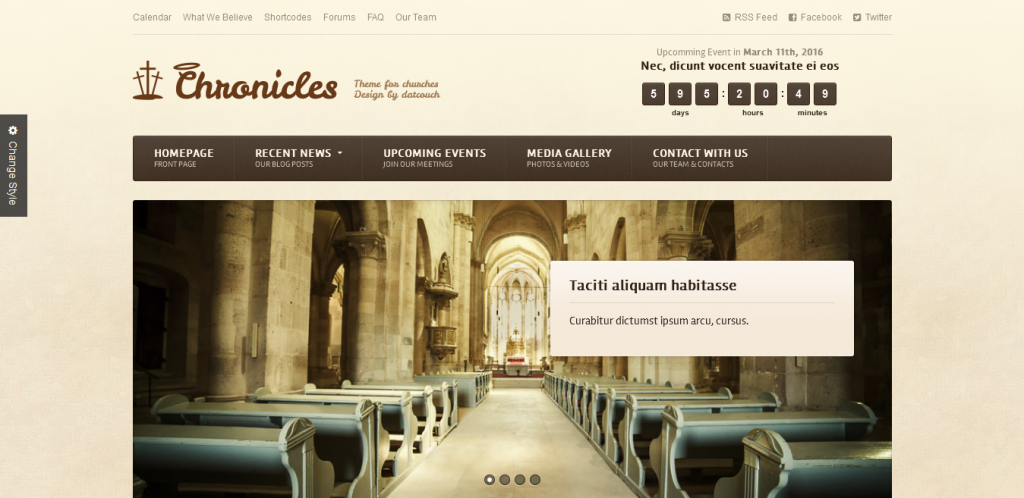 Premium WordPress Church Theme