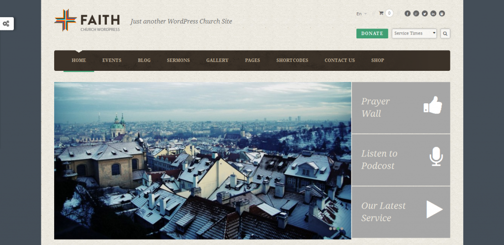 WordPress Church Site