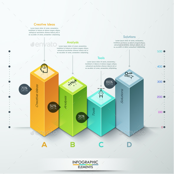 Abstract 3d Diagram Infographics Options