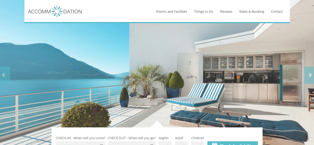 Accommodation Hotel Resorts Booking WordPress Theme