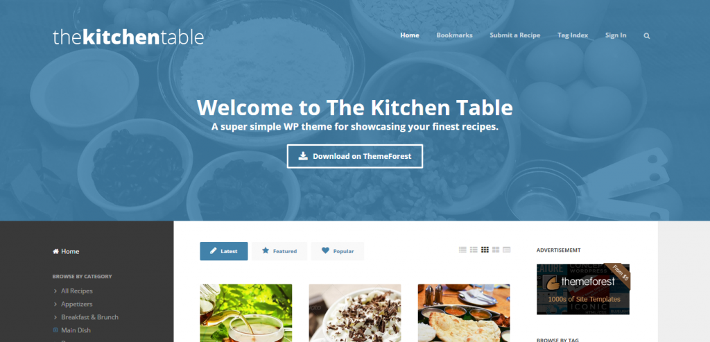 Best Recipe and Food WordPress Theme