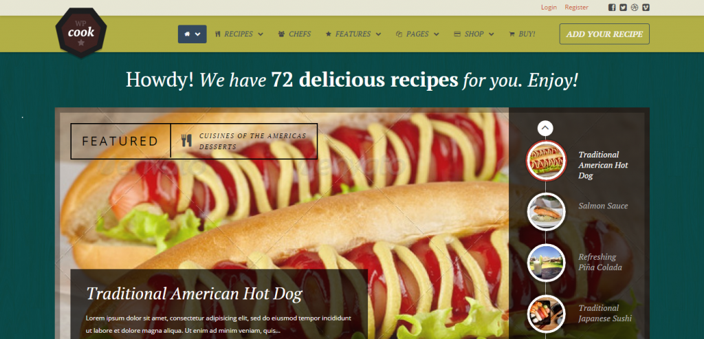 Download Recipe and Food WordPress Theme